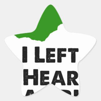 I Left My Heart in Zambia Star Sticker