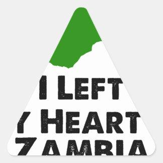 I Left My Heart in Zambia Triangle Sticker