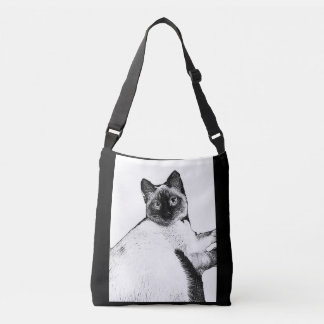 I left my Siamese at home Crossbody Bag