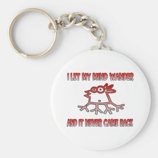 I let my mind wander basic round button key ring