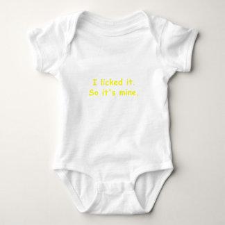I Licked It So Its Mine Baby Bodysuit