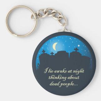 I Lie Awake At Night Basic Round Button Key Ring