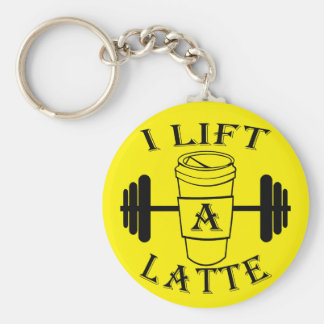 I Lift A Latte Basic Round Button Key Ring