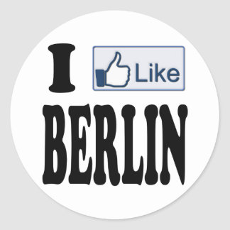I Like Berlin Germany Classic Round Sticker