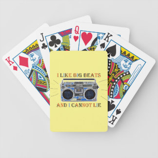I Like Big Beats Bicycle Playing Cards