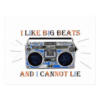 I Like Big Beats Postcard