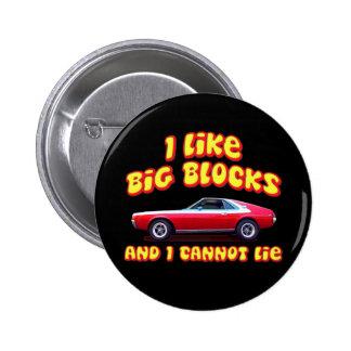 I Like Big Blocks AMC AMX Pinback Button