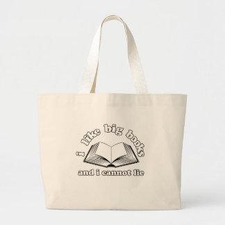 I Like Big Books and I Cannot Lie Tote Bags