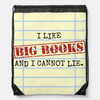 I Like Big Books and I Cannot Lie Funny Library Cinch Bags