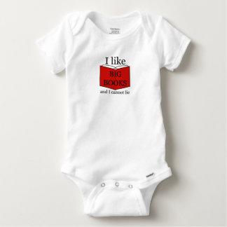 I Like Big Books Baby Onesie