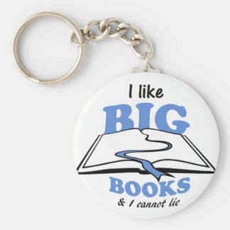 I like Big Books Basic Round Button Key Ring