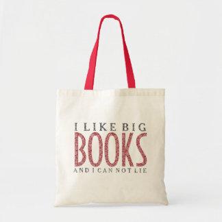 I like Big Books Dark Red Text Design
