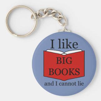 I Like Big Books Key Ring