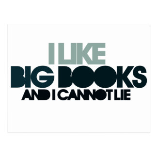 I Like Big Books Postcard
