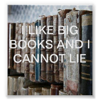 I like big books poster