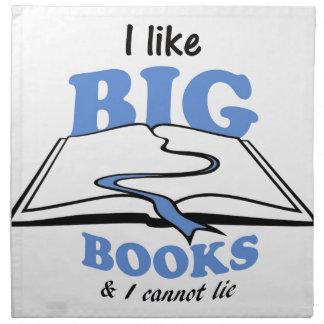 I like Big Books Printed Napkins