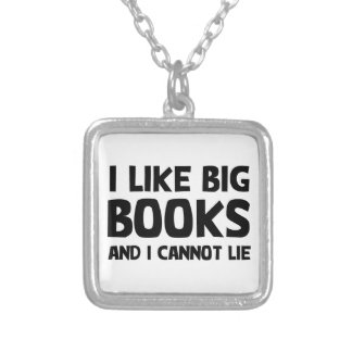 I Like Big Books Silver Plated Necklace
