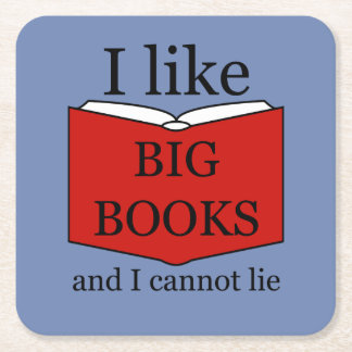 I Like Big Books Square Paper Coaster