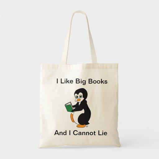 I Like Big Books Tote Canvas Bag