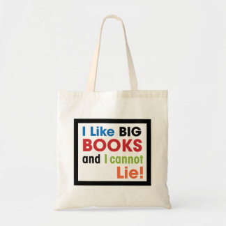 I like big books ... tote bag