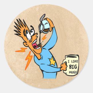I Like Big Mugs - Java Junkie Guy Stickers