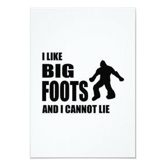I Like Bigfoots and I Cannot Lie 9 Cm X 13 Cm Invitation Card