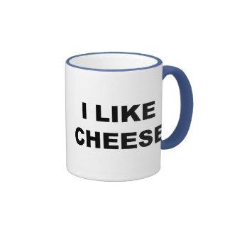 I Like Cheese Ringer Coffee Mug