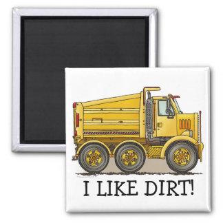 I Like Dirt Highway Dump Truck Magnet