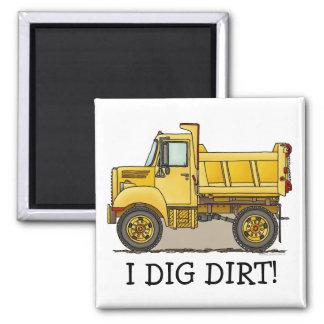 I Like Dirt Little Dump Truck Magnet