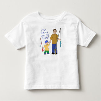 I Like Fishing With My Daddy Boy in Yellow Toddler T-Shirt