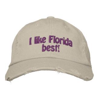 I like Florida best hat Embroidered Baseball Cap