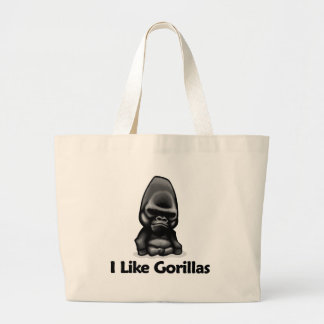 I Like Gorillas Canvas Bags