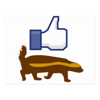 I like Honey Badger Post Cards