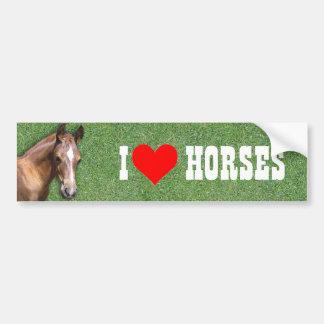 I like Horses Bumper Sticker