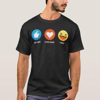 I Like I Love Dance Emoji Emoticon Graphic Design T-Shirt