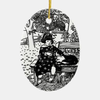 I Like Little Pussy Nursery Rhyme Christmas Ornaments