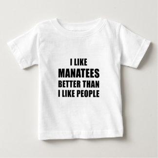 I Like Manatees Better Than I Like People Baby T-Shirt