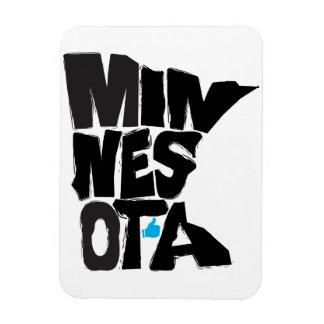 I Like Minnesota State Typographical Map Art Rectangular Photo Magnet