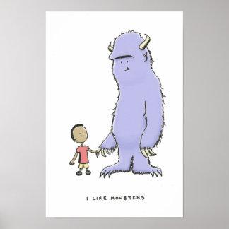 i like monsters poster