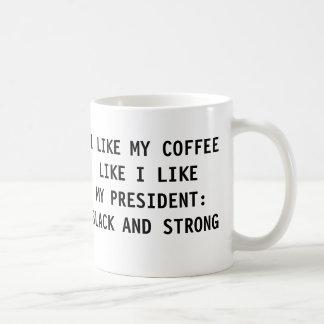 I LIKE MY COFFEE LIKE MY PRESIDENT BASIC WHITE MUG