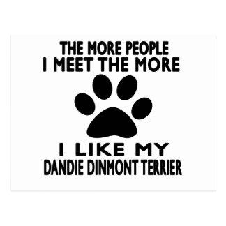 I like my Dandie Dinmont Terrier. Postcard