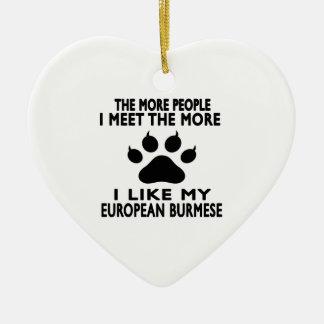 I like my European Burmese. Ceramic Heart Decoration