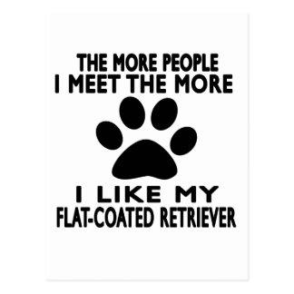 I like my Flat-Coated Retriever. Postcard