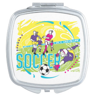 """""""I like MY life"""" soccer mirror Mirror For Makeup"""