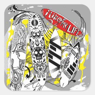 """I like MY life"" surfboard stickers"