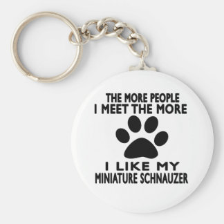 I like my Miniature Schnauzer. Basic Round Button Key Ring