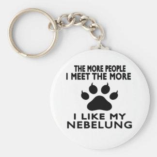 I like my Nebelung. Basic Round Button Key Ring
