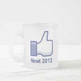I LIKE NEWT 2012 10 OZ FROSTED GLASS COFFEE MUG