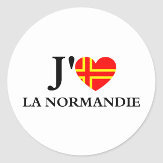 I like Normandy Classic Round Sticker