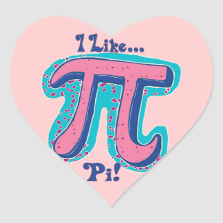 I Like Pi Day Heart Sticker